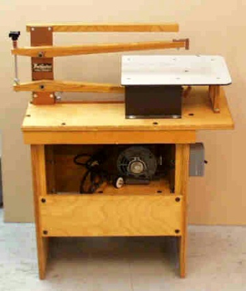 Home Made Scroll Saw http://www.scrollsaws.com/SawCollection/SawsFloor.html