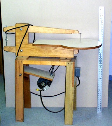 Home Made Scroll Saw http://www.scrollsaws.com/SawCollection/SawsHomemade.htm